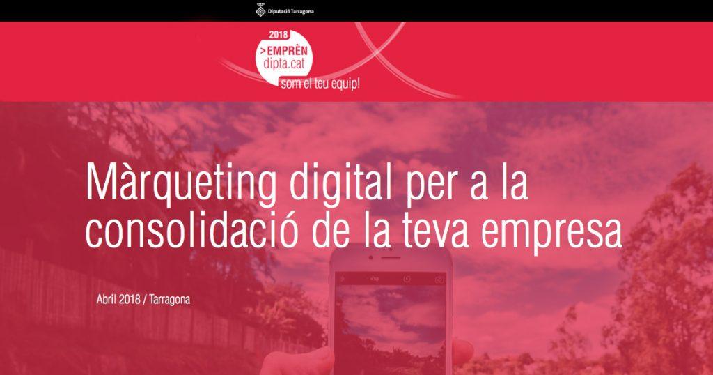 Curs de màrqueting digital de la Diputació de Tarragona